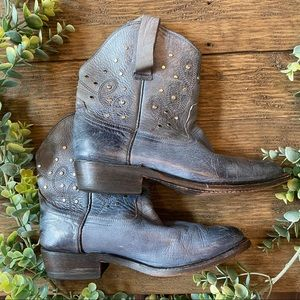 Miz Mooz Cozumel Blue Studded Ankle Booties 7